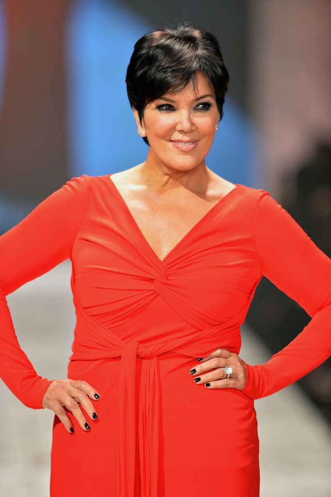 Kris Jenner-wearing Badgley Mischka walks the runway at The Heart Truth's Red Dress Collection during Fall 2013 Mercedes-Benz Fashion Week at Hammerstein Ballroom on February 6, 2013 in New York City